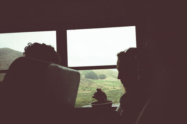 Bus ride at Headlands Center for the Arts