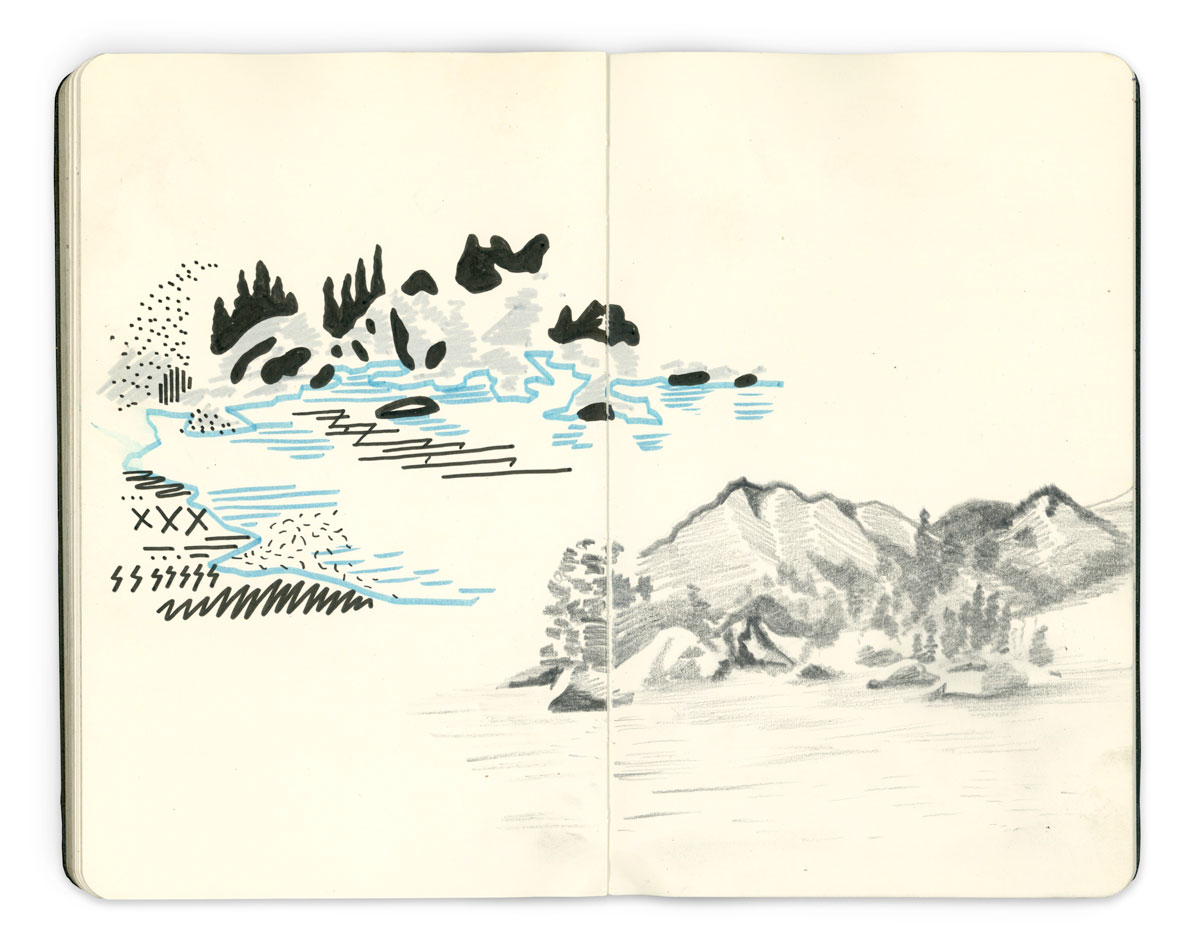 Nick Zegel Kern River Drawing 2014