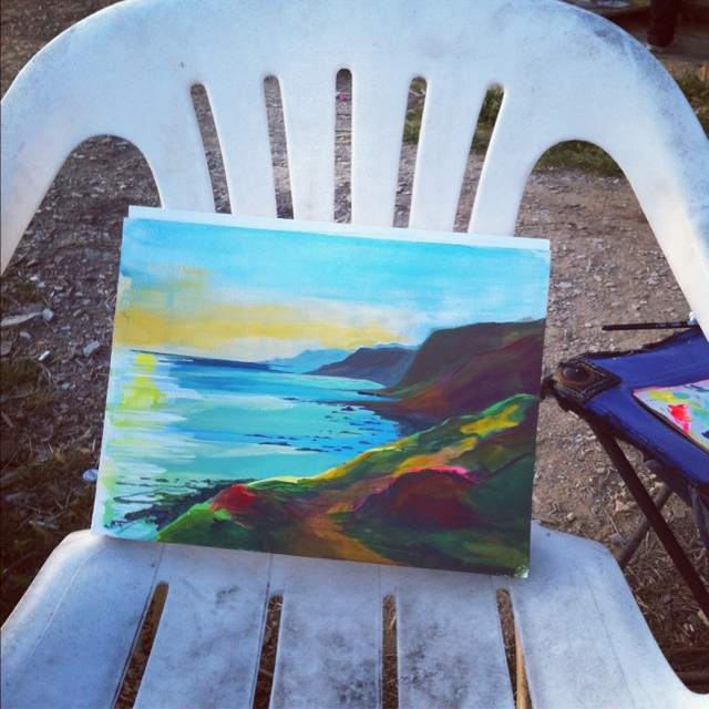 Landscape Painting and Spraypainting