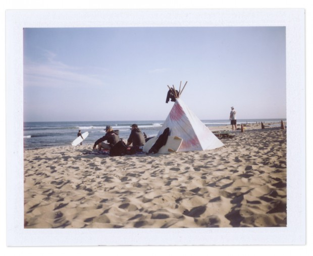 Teepee at Malibu Beach