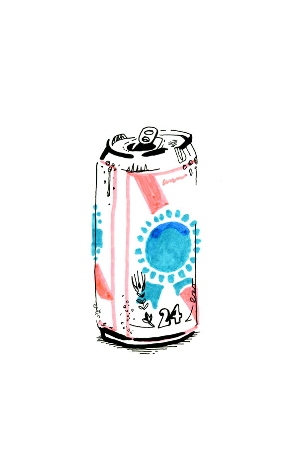 Nick Zegel Pabst Blue Ribbon PBR Drawing Illustration